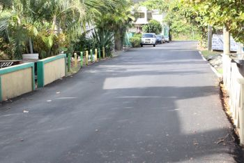 Spanking new roads in Carrot Bay. Some believe that the road works were not a dire need as the roads were in reasonable shape hitherto the works. Photo: VINO