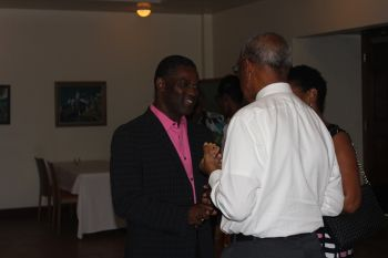 Scene from the reception to mark the 5th anniversary of the Complaints Commission held yesterday May 7, 2014. Photo: VINO