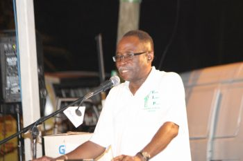 He was speaking at the well in Sea Cow's Bay, Tortola on the final campaign rally for elections 2015 which culminates on voting day today June 8, 2015. Photo: VINO