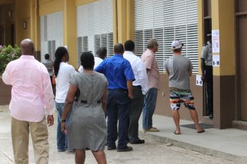 Lines were long at some polling places on election day. Photo: VINO/File