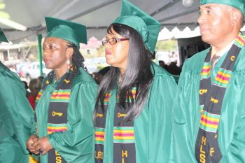 Some of the students on graduation day Thursday June 11, 2015. Photo: VINO