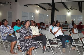 Several residents of Virgin Gorda seized the opportunity to voice their concerns on issues affecting them when Independent candidate for the Ninth electoral district Mrs Stephanie I. Faulkner-Williams held a meeting at the Catholic Community Centre on May 14, 2015. Photo: VINO