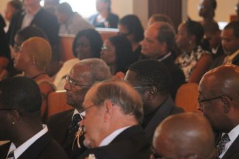 Attendees at the Thanksgiving Service for Elodie Sadena Winter (aka Sadie Sargeant-Winter). Photo: VINO