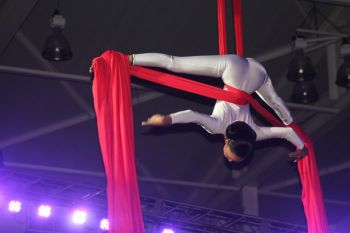 An acrobatic performance at the 2014 Miss BVI Pageant. Photo: VINO