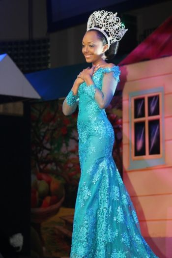 Rosanna Chichester's final moments as the reigning Miss BVI. Photo: VINO
