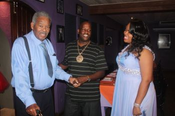 Charter Member and PP Honourable Ralph T. O'Neal who is also the District Representative for the Virgin Gorda communities was on hand to witness the chartering and installation of the first Virgin Gorda Rotary Club. Photo: VINO