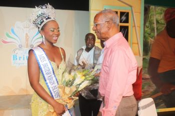 It was the second year around that Jaynene Jno Lewis contested in the Miss BVI Pageant in the Virgin Islands and won the hearts of the panel of judges this time around which saw her being crowned the queen for the intended period 2014 – 2015. Photo: VINO/File