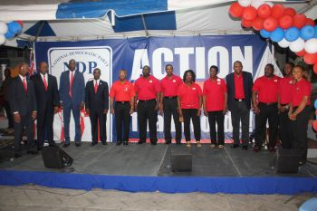 The ruling National Democratic Party (NDP) launched their Territorial At-Large candidates on Saturday May 16, 2015 at Sir Olva Georges Plaza in Road Town. Photo: VINO