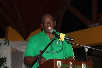 Virgin Islands Party (VIP) President Carvin Malone has made it clear that the recent decision to postpone the gala dinner in tribute to former legislator Ralph T. O'Neal OBE has absolutely nothing to do with the party being unsuccessful at the June 8, 2015 general elections. Photo: VINO/File