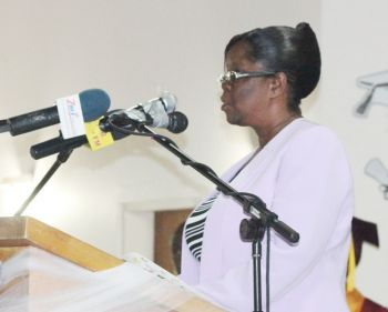 Principal of the Bregado Flax Educational Centre, Ms Caryl O'Neal. Photo: VINO