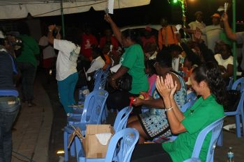 Some of the persons at the campaign launch of Virgin Islands Party (VIP) candidate for the Seventh District Oleanvine Pickering-Maynard at The Stickett on May 18, 2015. Photo: VINO