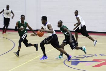 Ray D. Victor in attack mode against Skillful Ballers in the 2019 Hon Julian Fraser Save the Seed League. Photo: VINO/File