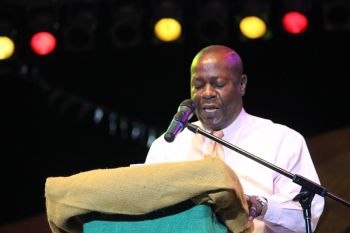Chairman of the Virgin Islands Festival and Fairs Committee (VIF&FC), Marvin 'MB' Blyden also spoke of the work that went into planning this year's Festival and called for persons to focus on integrity and pride in this year's Festival. Photo: VINO