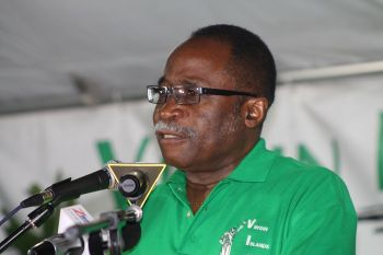 Chairman of the Virgin Islands Party Honourable Julian Fraser, RA (R3) has made a call for the presence of election observers at the June 8, 2015 polls and has also challenged the Commissioner of Police David Morris to have unbiased police officers at polling stations throughout the territory. Photo: VINO