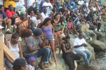 Scene of the Aquatic Sports held today August 5, 2014 at the Queen Elizabeth Park, Road Town. Photo: VINO