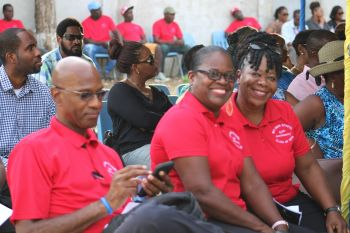 Some students of the class of 1997 at the unveiling of the L. Adorothy Turnbull Building, which was done on September 6, 2019 at a ceremony that also served as the handover of the newly refurbished school building and Service of Thanksgiving on the second anniversary of the passage of Hurricane Irma. Photo; VINO