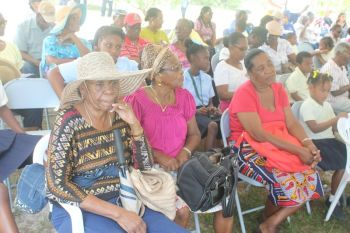 Residents of Anegada were very disappointed that no member of the Government showed up at the Farmers' Week activity on the Island on Monday February 10, 2014. Photo: VINO