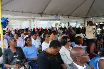 Some of the persons at the unveiling of the L. Adorothy Turnbull Building, which was done on September 6, 2019 at a ceremony that also served as the handover of the newly refurbished school building and Service of Thanksgiving on the second anniversary of the passage of Hurricane Irma. Photo; VINO