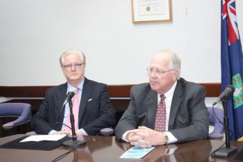 The agreements, which were signed at the Premier's Conference room yesterday by DCL's President Mr Karl L. Holz (right) and NCL's Vice President Destination and Strategic Development Mr. Colin Murphy, also guarantee a head tax of $15 per passenger with the expectation that this will increase after the first five years. Photo: VINO