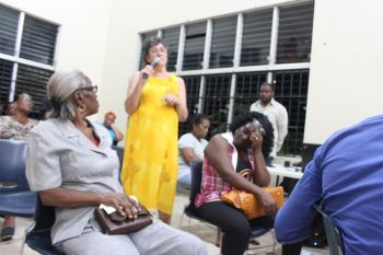 A resident of Sea Cows Bay raises an issue concerning the prolonged road works. Photo: VINO
