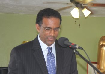 Deputy Premier and Minister for National Resources and Labour, Dr The Honourable Kedrick D. Pickering (R7) said all as citizens of the Virgin Islands have an equal responsibility to ensure security of the territory. Photo: VINO/File