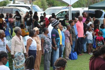 Persons in attendance at the 13th Annual Back to School event in the First District at the Capoon's Bay Recreation Ground on September 8, 2019. Photo: VINO