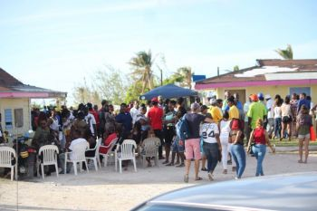 Some patrons of the 5th Annual Anegada Lobster Festival hanging out at Setting Point on November 26, 2017. Photo: VINO