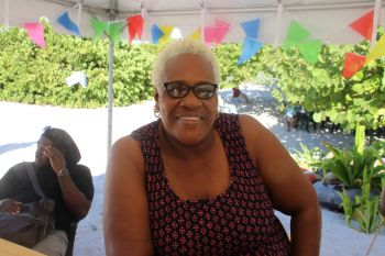 Diane Levons, Owner of Big Bamboo Restaurant, said already, they have started to mentally prepare for the next Anegada Lobster Festival. Photo: VINO