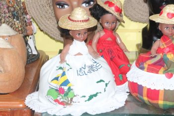 Some of the dolls outfitted with the Virgin Islands' Territorial Dress which were created by Ms Kishmet Daniel. Photo: VINO
