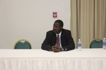 Speaking at the press conference, Frederick said that they have had a lot of support from people of the BVI during their campaign. Photo: VINO