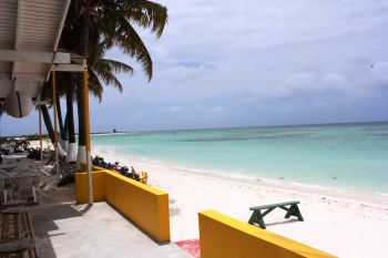 The view that the Obamas had while taking lunch at Cow Wreck Bar and Grill on Anegada, British Virgin Islands today, January 31, 2017. Photo: VINO/File