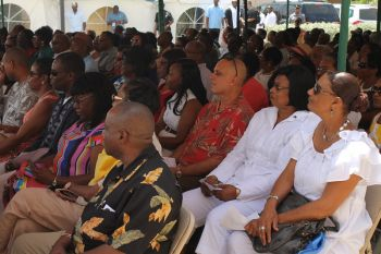 A section of the audience at the ceremony for VI-USVI Friendship Day 2013. Photo: VINO