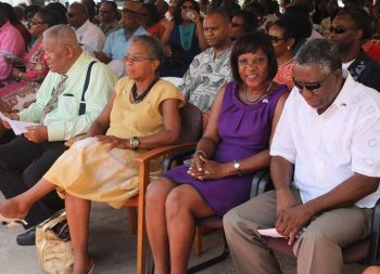 Ninth District Representative and Opposition Leader Hon. Ralph T. O'Neal, OBE (left) at VI-USVI Friendship Day 2013. Photo: VINO