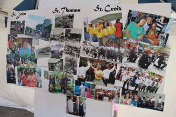 The wall of reflection which tells the story of the 40 year old friendship of the USVI and VI. Photo: VINO