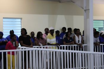 Some of the persons at the commissioning of the newly built Enis Adams Primary School. Photo: VINO