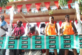 LIME ensured that they made their presence felt at the tramp. Photo: VINO