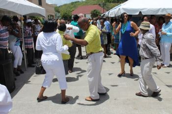 Dancing to the music of Leon and the Hot Shots at VI-USVI Friendship Day 2013. Photo: VINO