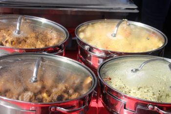 Some of the delicious foods available at Christmas on DeCastro Street. Photo: VINO