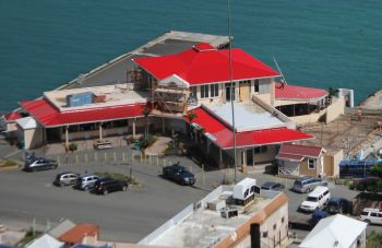 It is unclear when the BVI Ports Authority Building on Waterfront Drive, Tortola, will be reopened. Photo: VINO