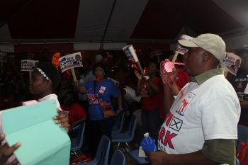 The issues were voiced by two Ministers of Government last night May 26, 2015 at a campaign meeting held in Road Town, Tortola. Photo: VINO