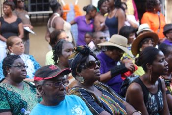 A part of the turnout on Sunday August 3, 2014 at the Sunday Morning Well in Road Town. Photo: VINO