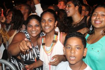 A section of the audience at Carrot Bay's Cultural Fiesta, August 8, 2014. Photo: VINO