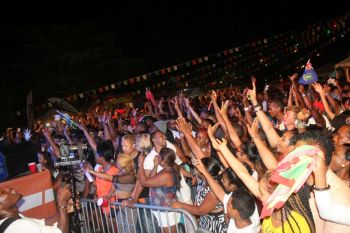The turnout was indeed large at Carrot Bay's Cultural Fiesta, August 8, 2014. Photo: VINO