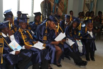 26 of 27 grade five students graduated from the Willard Wheatley Primary School this year. Photo: VINO