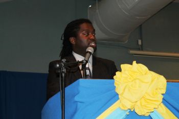 Guest Speaker for the graduation ceremony was Mr Theodore James who challenged the students to make the best of opportunities that would present themselves. Photo: VINO