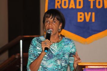 Assistant District Governor Mrs Delma Maduro said the Rotary Club of Road Town, under the leadership of Shan Mohamed, raised the bar for Rotary Clubs in the Virgin Islands. Photo: VINO