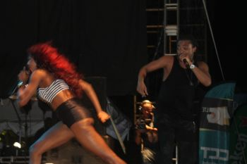 Machel Montano HD, Patrice Roberts and Farmer Nappy at Carrot Bay Cultural Fiesta, August 9, 2014. Photo: VINO