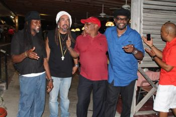 Centre is a Third World fan who was excited about them being in the Virgin Islands for yet another show set for tonight July 6, 2013. Photo: VINO