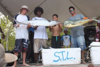 Sky is the Limit team weighed in a catch amounting to 147 pounds of fish, which secured them a cash prize of $900. Photo: VINO