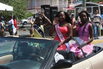 Miss Gorgeous 2014 Donalin Michel during the parade. Photo: VINO